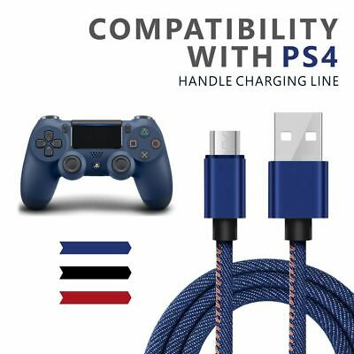 AU3.95 • Buy PS4 Controller Charger HD 1M  Charging Cable  Denim Pattern Micro Cable