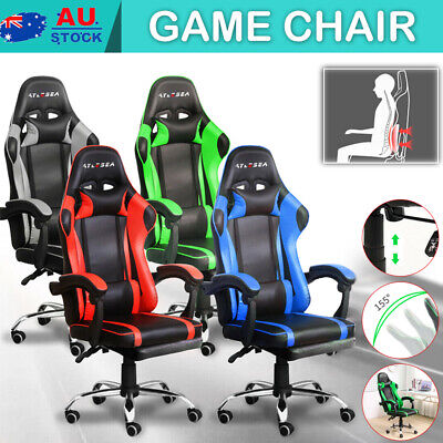 AU129 • Buy Gaming Chair Office Executive Computer Chairs Seating Racing Recliner / Footrest