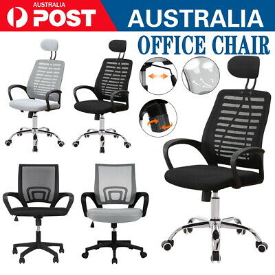 AU55 • Buy Black Office Chair Gaming Computer Chairs Mesh Back Executive Seating Study Seat
