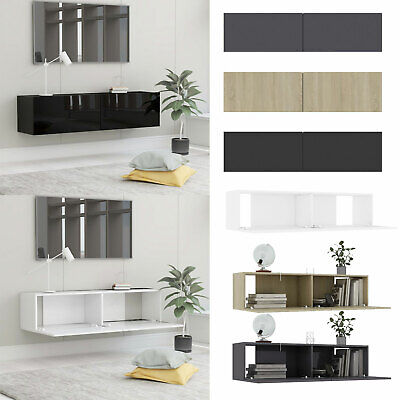 Wall Mounted TV Cabinet With 2 Drawers Monitor Cabinet Living Room Book Storage  • 131.73£