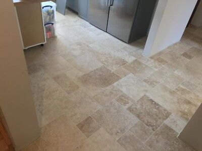 £20.95 • Buy Tumbled (Rustic) Country Mixed Travertine Opus Pattern Floor Tiles