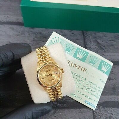 MINT Ladies 18ct Gold Rolex Oyster Perpetual Datejust - Factory Jubilee Dial. • 6,795£