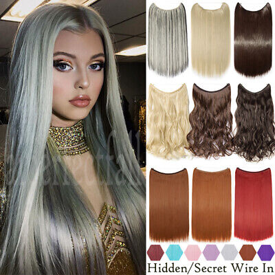 £10.96 • Buy Halos Hair Extensions Invisible Wire Easy Thick Hairpiece Real Natural As Human