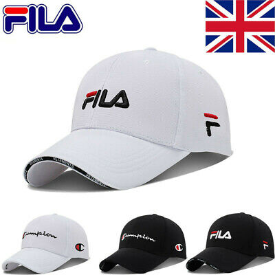 Mens Women Baseball Caps Swoosh FILA Logo Cap Sports Golf Adjustable Hat Unisex • 11.25£