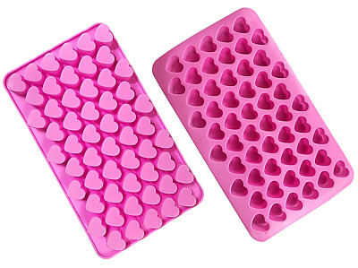 £1.95 • Buy Silicone Mould Heart Shape Chocolate Candy Jelly Tray Cake 55 Hearts Decoration