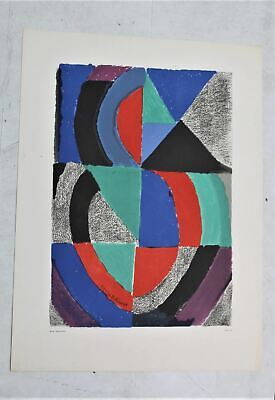 SONIA DELAUNAY Original Edition A1 Size Abstract Lithograph Painting NEW • 152.85£