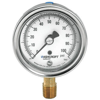 $82.40 • Buy ASHCROFT 251009AW02L15# Gauge,Pressure,0 To 15 Psi,1 Percent