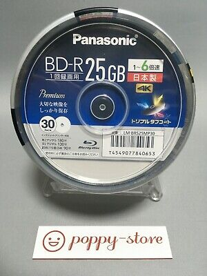 £46.85 • Buy Panasonic LM-BRS25MP30 BD-R 25GB Recordable Disk 6x Speed Ink-jet Printable