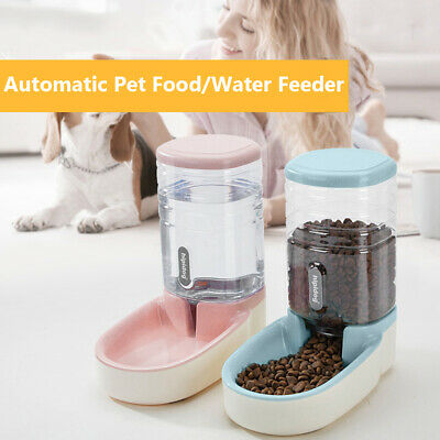 Large Capacity Puppy Automatic Pet Feeder Dog Cat Food Water Dispenser Bottle • 14.93£