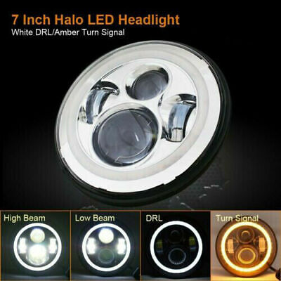 AU49.99 • Buy 7  Inch Round LED Headlight DRL High Low DOT Beam For Harley Davidson Motorcycle