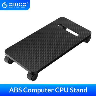 £17.89 • Buy ORICO PC Desktop CPU Stand Holder Computer Tower Case Cart With Wheels Black