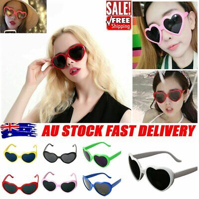 AU9.60 • Buy Effect Glasses Heart-shaped Heart Diffraction Glasses Lights Become Love Image #