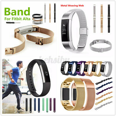 AU9.22 • Buy Metal Silicone Band Replacement Watch Strap Wrist For Fitbit Versa 2/Alta/Blaze