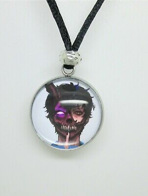 Corpse Husband Photo Cabochon Pendant  Necklace Surfer Style Cord  • 3.99£