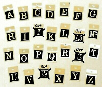 $11.99 • Buy 2 INITIAL-TAGS Samsonite Vtg Luggage Tag Letters Suitcase Briefcase Initialgrams
