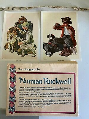 $ CDN11.92 • Buy 1972 & 1982 NORMAN ROCKWELL Portfolio Of Two Color Lithographs Dogs