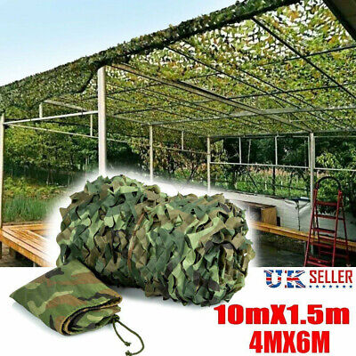 Large Army Camouflage Net Camo Netting Camping Shooting Hunting Hide Woodland UK • 12.71£