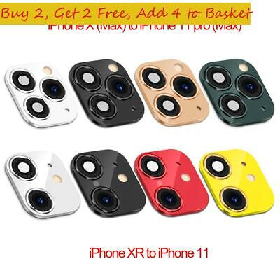 XR X To IPhone 11 Pro Max Fake Camera Lens Sticker Cover Case Seconds Change • 3.78£