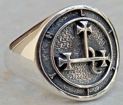 $ CDN94.38 • Buy Solid Sterling Silver 925 Seal Sigil Of Lilith Handmade 3D Ring