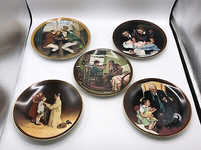 $ CDN113.28 • Buy Set Of 10 Norman Rockwell Limited Edition Colonial Plates 1980s Edwin Knowles
