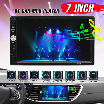 AU54.99 • Buy 7'' 2 Din MP5 Radio Player Double Car Stereo Head Unit AUX Radio Touch Screen AU