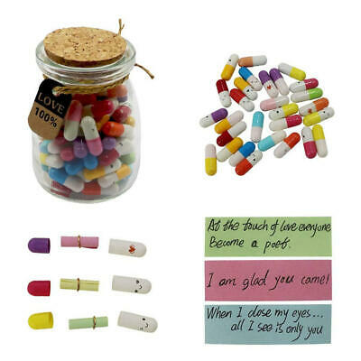 AU17.99 • Buy 50PCS Letter Message Bottle In Capsule-Love Letter Gift Valentine's Day Gift