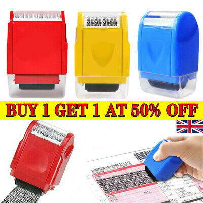Identity Theft Protection Roller Stamp Privacy Confidential Guard Your ID Data • 6.49£