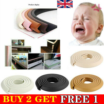 £5.51 • Buy 2M Kids Baby Safety Foam Rubber Bumper Strip Safety Table Edge Corner Protector