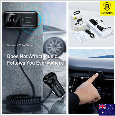 AU19.90 • Buy Baseus Bluetooth 5.0 FM Transmitter Handsfree USB Charger Car MP3 Radio Adapter
