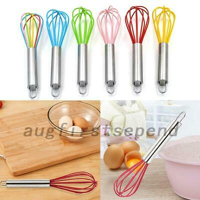 AU6.99 • Buy Silicone Mini Whisk Eggbeater Stainless Steel Utensil Home Kitchen Baking Tool