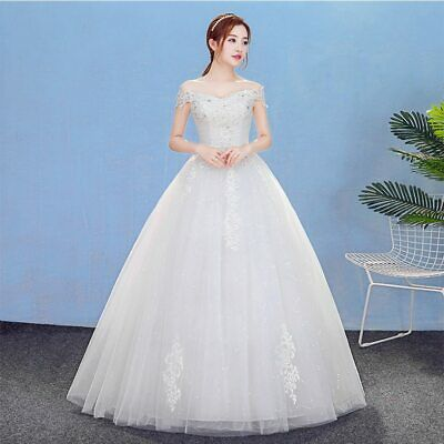 $ CDN179.19 • Buy Backless Wedding Dresses Lace With Splendent Sequined And Crystal Embroidery New