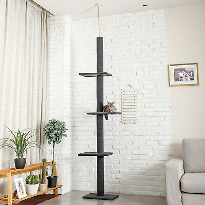 AU65.99 • Buy Cat Tree Scratching Post 3 Tier Floor-to-Ceiling Kitten Funny Climbing Jump Toys