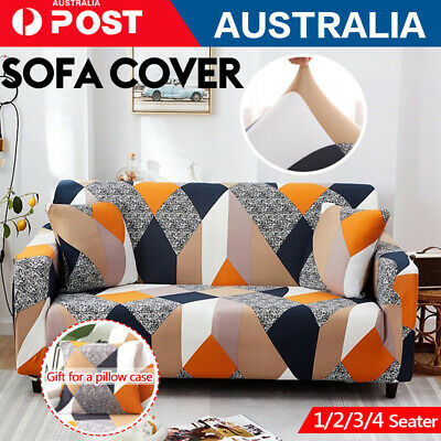 AU14.53 • Buy 1/3 Seater Sofa Cover Couch Lounge Protector Slipcovers High Stretch Covers