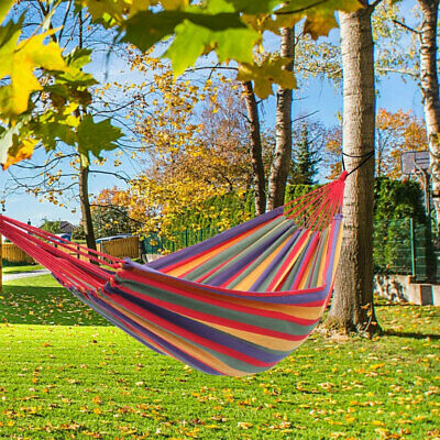 Camping Hanging Hammock Thickened Durable Canvas Swing Chair Garden Outdoor Seat • 67.14£