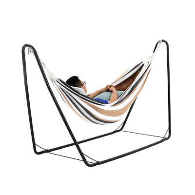 Outdoor Indoor Hanging Rope Hammock Chair Swing Seat Garden Patio Relax Hammocks • 91.14£
