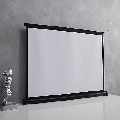 £49.95 • Buy Portable Projector Screens Manual Pull Down Projection Screen Stand Home Movies