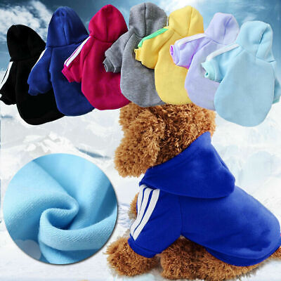 Winter Casual Adidog Pets Dog Clothes Warm Hoodie Coat Jacket Clothing For Dog • 4.29£