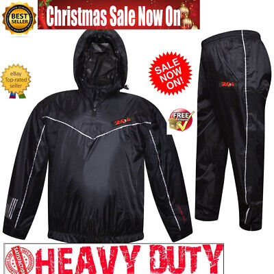 AU32.09 • Buy Double Heated Sauna Sweat Suit For WEIGHT LOSS Burn FAT MMA FIGHT BOXING Gym Men