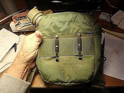 $ CDN12.08 • Buy 2A- Military 2 QT/ Collapsable Canteen With Bag And Sling