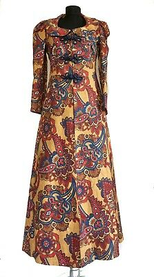 £236.46 • Buy Vintage Sybil Zelker At Polly Peck Women's Two Pieces Set, Maxi Coat And Dress
