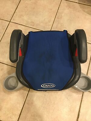 £18 • Buy GRACO Blue Car Booster Seat With Armrests And 2 X Cupholders 4-12 Years 15-36 Kg