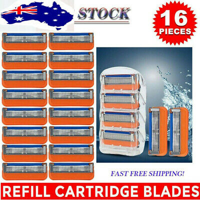 AU19.99 • Buy 16 Pieces 5-ply Razor Blade For Gillette Fusion Razor Blade Cartridge Men AU