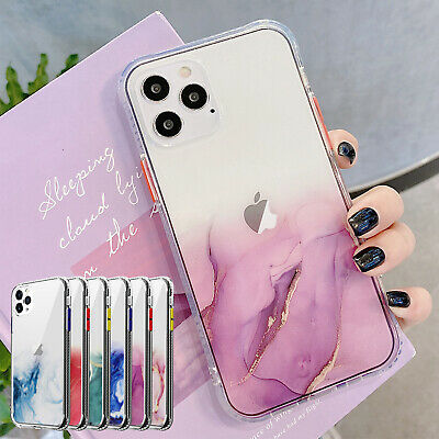 AU9.96 • Buy For IPhone 12 Pro Max 11 8 7 Plus XS XR Case Marble Clear Shockproof Hard Cover