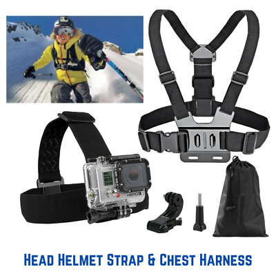 AU12.99 • Buy Chest Harness Head Helmet Strap Mount Accessories GoPro 3+ 4 5 6 7 8 Chesty AU