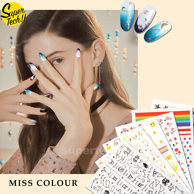 AU2.59 • Buy NEW 3D Nail Decor Decal Stickers Nail Art Accessors Flowers BOHO BUTTERFLY