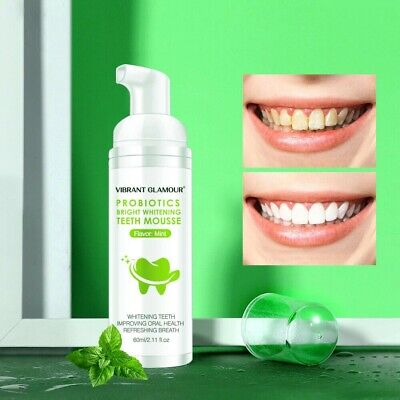 Tooth Whitening Mousse Toothpaste Remove Plaque Stains Bright Teeth Oral Care • 11.35£