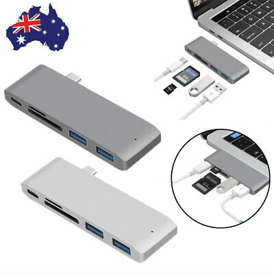 AU30.99 • Buy USB-C HUB Type-c Card Reader Adapter Transfer Speed For 13/15inch MacBook Pro