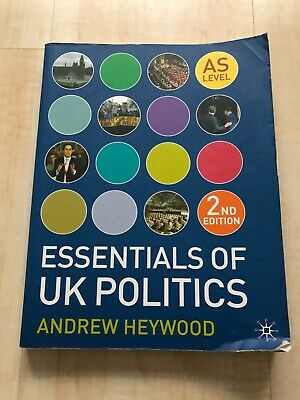 Essentials Of UK Politics AS Level - Paperback, By Andrew Heywood • 8£