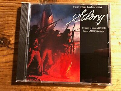 GLORY (James Horner) OOP 1989 Virgin Score Soundtrack OST CD EX • 11.99£