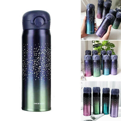 AU22.29 • Buy 500ml Stainless Steel Vacuum Cup Thermos Flask Travel Water Bottle Cup Mug New